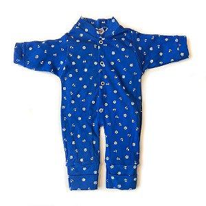 Macacão Bebê Suedine Azul