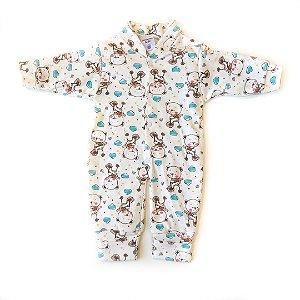 Macacão Bebê Suedine Urso