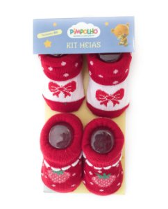 Kit 2 meias menina RN Pimpolho