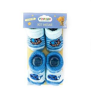 Kit 2 meias menino RN Pimpolho