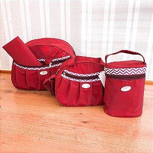 kit bolsa 4 peças Vermelha