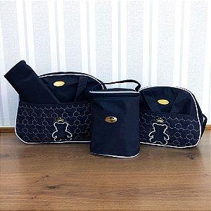 Kit bolsa 4 peças Azul Marinho