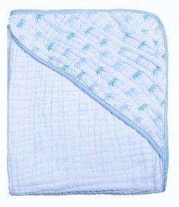 Toalha Soft Coroa Azul Papi