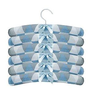 Cabides Decorados Losangos Azul Laura Baby