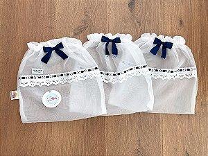Saquinho de Maternidade de Voal Azul Marinho