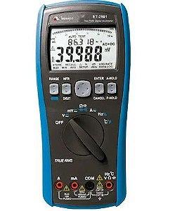Multímetro Digital True RMS AC/ AC+DC/ Data Logger 20.000 registros - Minipa ET-2801