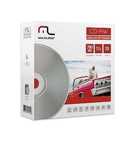 MIDIA CD-RW VEL. 12X - 25 UN. ENVELOPE IMPRESSO EM CAIXA - CD053