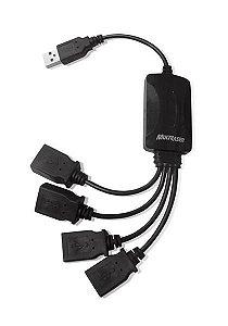 AC.HUB USB CABLES 2.0 4 PORTAS PRETO