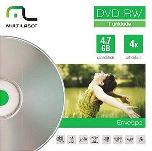 MIDIA DVD-RW VEL. 04X - ENVELOPE IMPRESSO - DV064