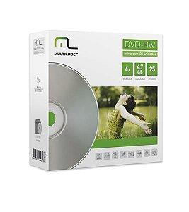 MIDIA DVD-RW VEL. 04X - 25 UN. ENVELOPE IMPRESSO EM CAIXA - DV062