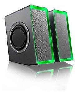 WARRIOR GAMER CAIXA DE SOM LED LIGHT/ USB 20W - SP201