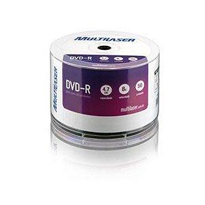 DVD-R 8X 4.7GB PLUS BULK 50 UNIDADES - MULTILASER - DV050PP