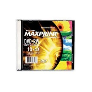 DVD-RW MAXPRINT 4.7GB CAPA ACRILICA SLIM MAX