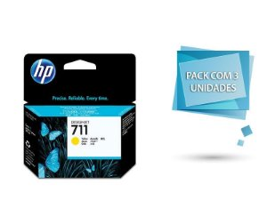 Cartucho de tinta HP 711 Amarelo PLUK 29ml (3 unid) -CZ136AB