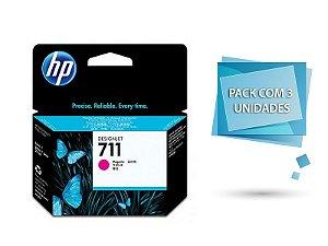Cartucho de tinta HP 711 Magenta PLUK 29ml (3 unid) -CZ135AB