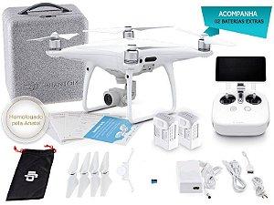 DRONE DJI CP.PT.000554.EB PHANTOM 4 PRO+ COMBO C/ 02 BATERIAS EXTRAS E RÁDIO CONTROLE C/ TELA INTEGRADA DE 5.5 POL