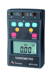 Terrômetro Dig Portátil 3 3/4 Dig CAT IV 400V / Tensão AC 400V/ Backlight / Auto Power Off / Data Hold - Minipa MTR-1530