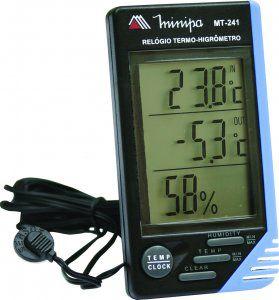 Relógio Termo-Higrômetro Int / Ext. - Minipa MT-241