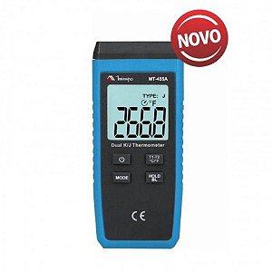 Termômetro Digital 2 canais/Display iluminado/Data Hold - Minipa MT-455A