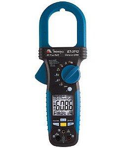 Alicate Amperímetro Digital  3 5/6D /CAT IV/True RMS/1000A AC/1000V AC/DC /Res/ - Minipa ET-3712