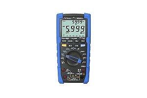 Multímero Digital/ Display Duplo/  CAT IV 600V, True RMS AC/ AC+DC/ LoZ,/ P65, Teste de Queda 2m/ Duty Cycle / Sequência de fase - MINIPA HD-2510