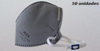 Máscara Descartável KSN N95/PFF2 - 10.02CO - PFF2S - Caixa 50 unidades