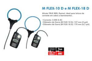 "Garra de corrente flexível de até 3000A e 10"" com display Minipa M FLEX-10D"