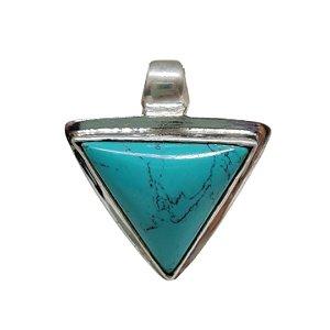 Pingente Turquesa Triângulo Prata 925
