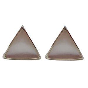 Brinco Madrepérola Triângulo