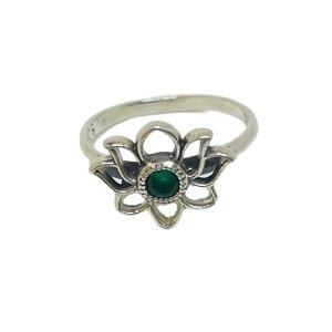 Anel jade flor