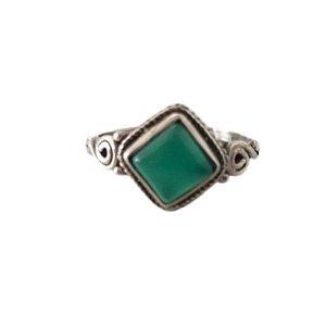 Anel losango jade