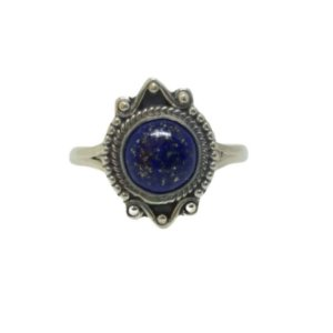 Anel lápis lazuli Chic