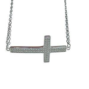 Pulseira cruz cristal