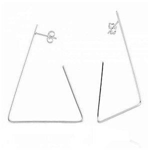 Brinco argola triângulo