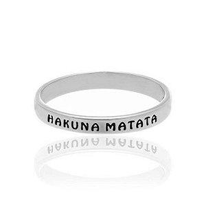 Anel Hakuna Matata Prata 925