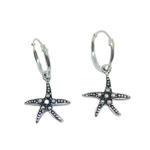Brinco argola estrela do mar