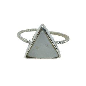 Anel Pedra da Lua Triângulo
