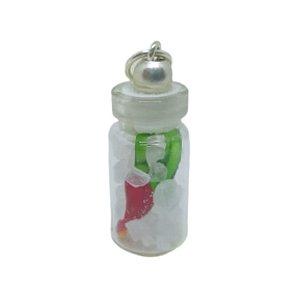 Pingente vidro sal grosso com pimenta