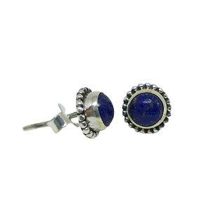 Brinco Lápis Lazuli Redondo Mil Bolas