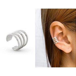 Brinco piercing fake ear hook quatro aros