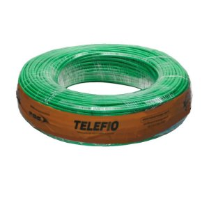 Cabo Flexível verde 4mm Rolo 100MT