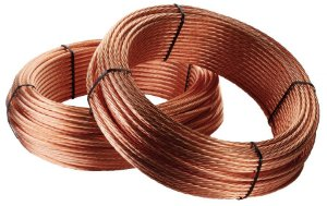 Cabo de cobre nu 16mm 7 fios NBR preço por metro