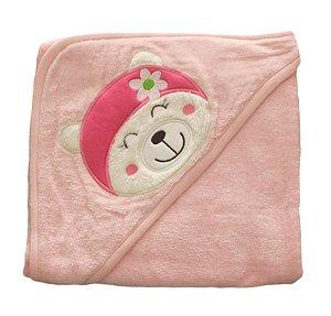 Toalha de banho rosa - gatinha