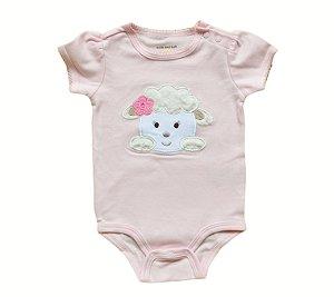 Body Bebê Ovelha - Rosa