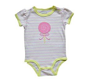Body Bebê Listrado Pirulito