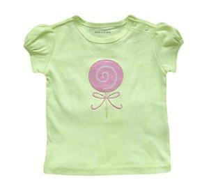 Camiseta Bebê Pirulito - Verde