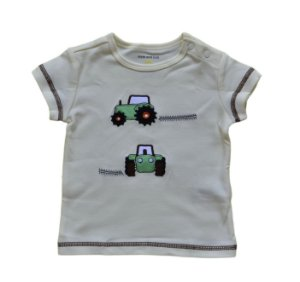 Camiseta Bebê com Tratorzinhos