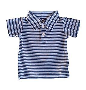 Camisa Bebê de Algodão Orgânico Listrada