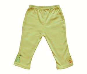 Calça Bebê Amarela de Bichinhos