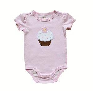 Body Bebê Cupcakes - Rosa